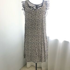 Daisy print mini dress